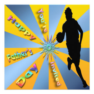 Basketball - Happy Father s Day Invitation