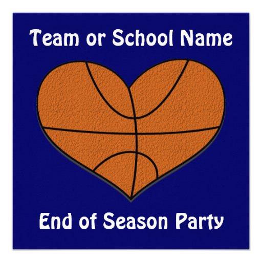 Basketball Heart Invitation