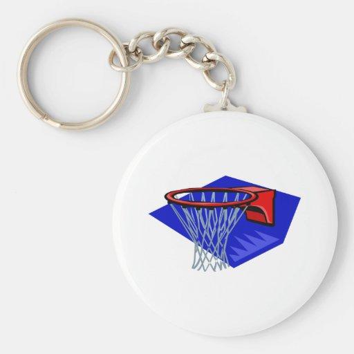 Basketball Hoop Key Chain