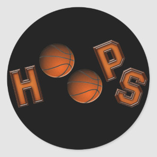 Basketball Hoops Round Sticker