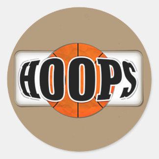 Basketball Hoops Round Sticker