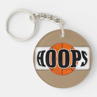 Basketball Hoops Single-Sided Round Acrylic Keychain
