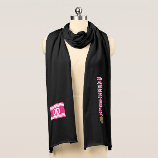 Basketball Hot Pink Letter - DIY Text Scarf