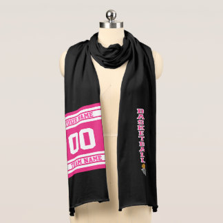 Basketball Hot Pink | Personalize Scarf