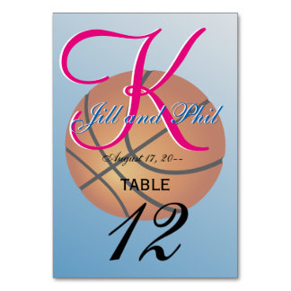 Basketball Icon Blue Background Card