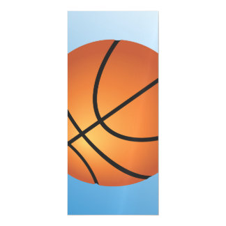Basketball Icon Blue Background Magnetic Invitations