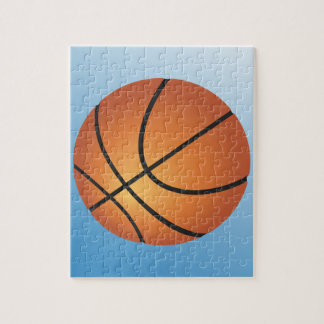 Basketball Icon Blue Background Puzzles