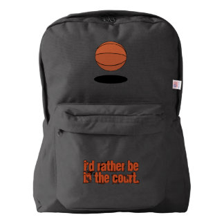 Basketball I'd Rather Be on the Court Backpack