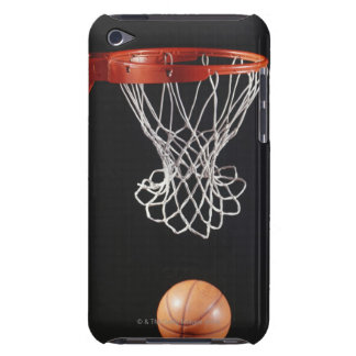 Basketball in hoop, close-up 2 barely there iPod covers