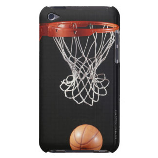Basketball in hoop, close-up 2 iPod touch case