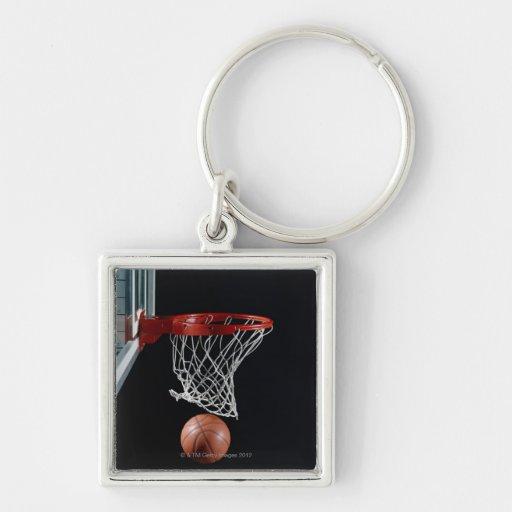 Basketball in Hoop Key Chains