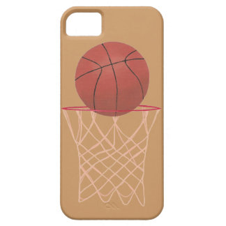 Basketball in hoop with net iPhone 5 Cases