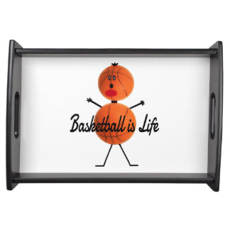 Basketball is Life Cartoon Serving Tray