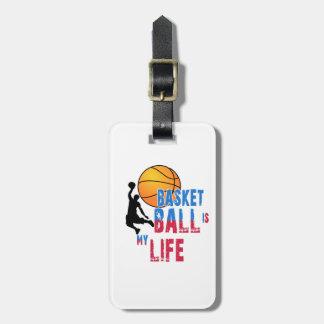 Basketball is my life luggage tag