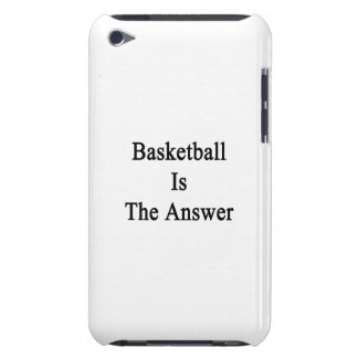 Basketball Is The Answer iPod Touch Cover