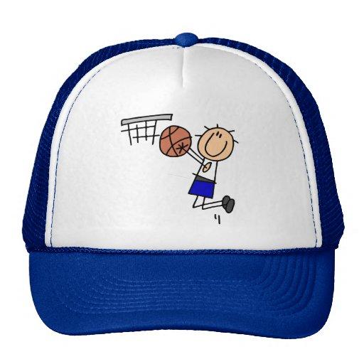 Basketball Jump Shot Blue T-shirts and Gifts Mesh Hat