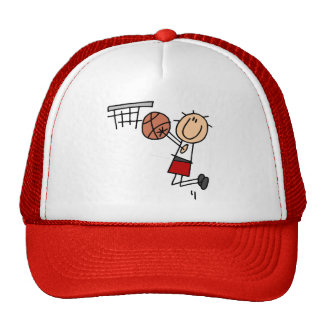 Basketball Jump Shot Red Tshirts and Gifts Trucker Hat