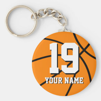 Basketball keychain   Personalized name and number