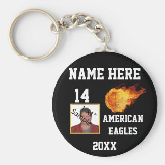 Basketball Keychains with Player's Name Photo
