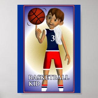 Basketball Kid Poster