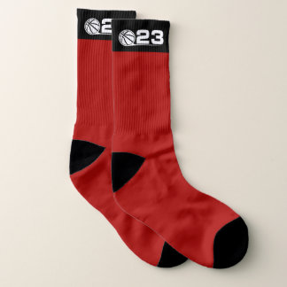 Basketball Large All-Over-Print Socks 1