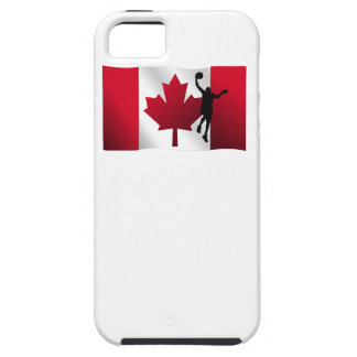 Basketball Layup Canadian Flag Case For The iPhone 5