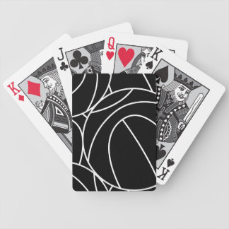 Basketball lines bicycle playing cards