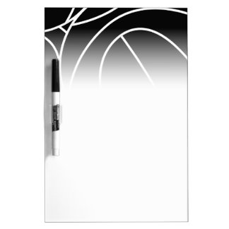 Basketball lines dry erase board