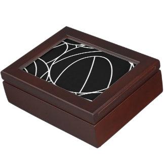 Basketball lines keepsake box