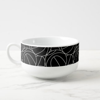 Basketball lines soup mug