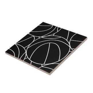 Basketball lines tile