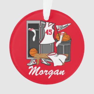 Basketball Locker Room Custom Player Name Number Ornament