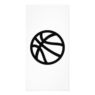 Basketball logo card
