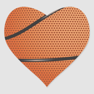 Basketball Look gifts for fans Heart Sticker
