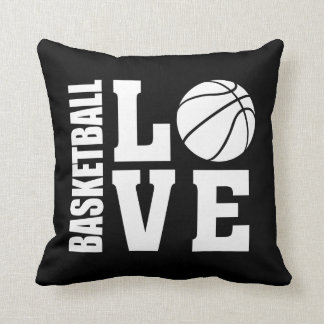Basketball Love Black Throw Pillow