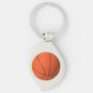 Basketball Metal Keychain