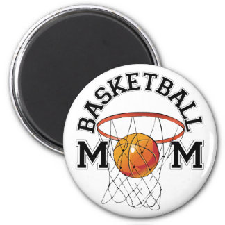 Basketball Mom 2 Inch Round Magnet