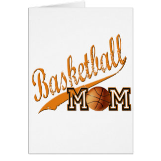 Basketball Mom Orange Greeting Card