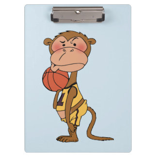 basketball monkey clipboard