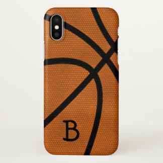 Basketball Monogram iPhone X Case