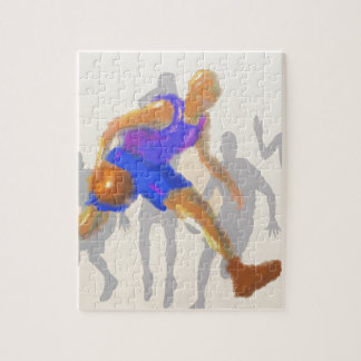 Basketball Moves Art Jigsaw Puzzle