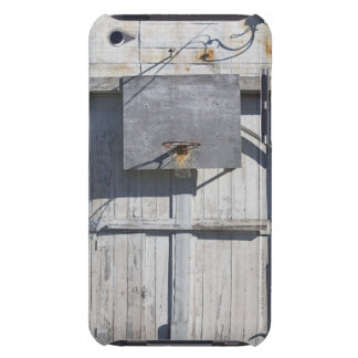 Basketball net on rustic building iPod touch covers