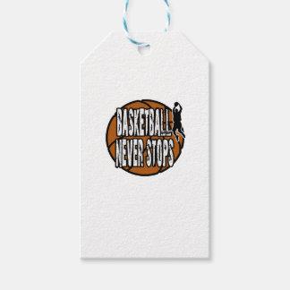 Basketball never stops gift tags
