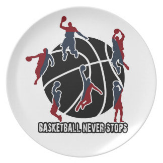 Basketball never stops party plate