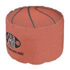 Basketball Novelty Sports Your Logo Team Name Pouf