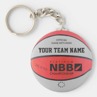 BASKETBALL OFFICIAL GAME KEYCHAIN Red white bl