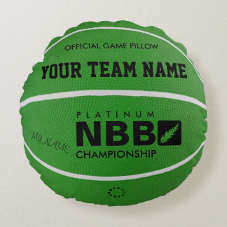 BASKETBALL OFFICIAL GAME PILLOW Green D wl