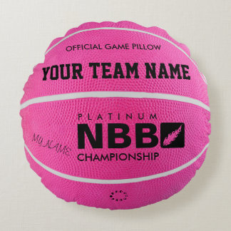 BASKETBALL OFFICIAL GAME PILLOW Pink wl