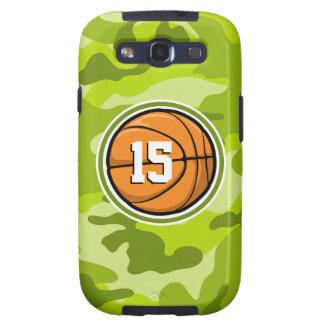 Basketball on bright green camo camouflage samsung galaxy SIII cases
