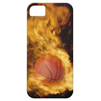Basketball on fire (digital composite) iPhone 5 cover